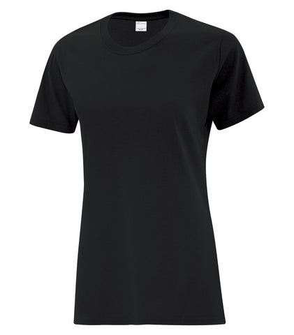 Black ATC Cotton T-Shirt - With Screen Print