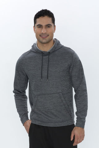 Landsharks Charcoal Dynamic Heather Fleece Performance Hoodie - Screen Print