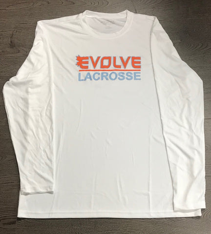 White ATC Dry Fit Long Sleeve - Screen Print