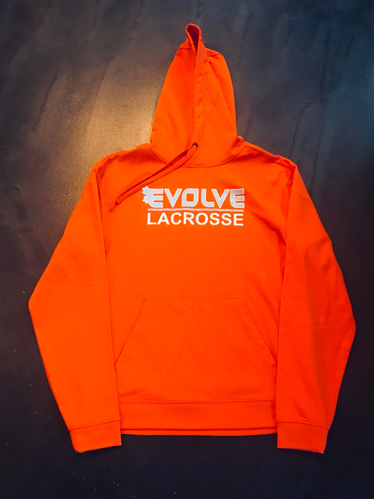 ATC Dry Fit Performance Hoodie with Screen Print - ORANGE
