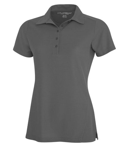 Women's Grey Golf Shirt - With Embroidery
