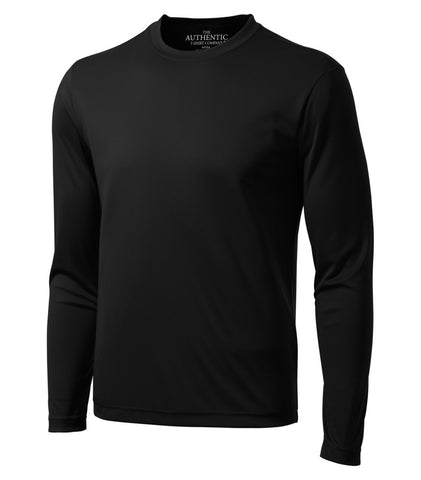 ATC Black Dry Fit Long Sleeve - Screen Print - Black