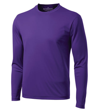 ATC Dry Fit Long Sleeve - Screen Print - Purple