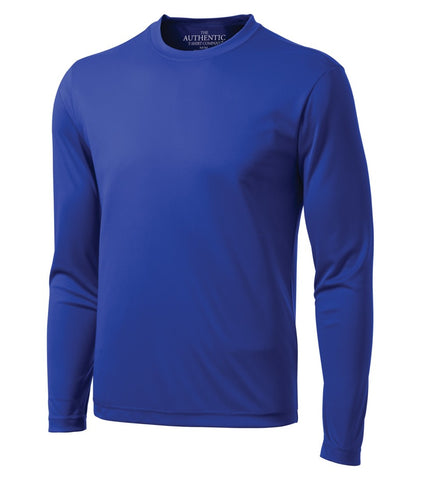ATC Dry Fit Long Sleeve - Screen Print - Blue
