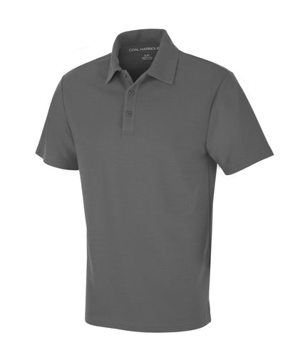 Grey Dry Fit Golf Shirt - With Embroidery