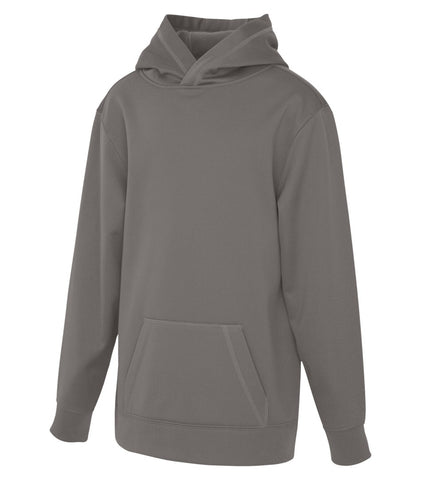 ATC Dry Fit Performance Hoodie With Screen Print - Grey
