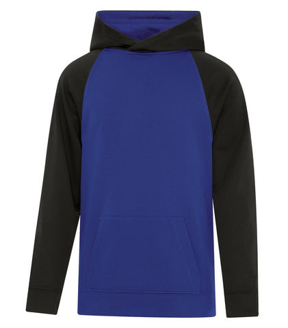 2 Toned ATC Dry Fit Performance Hoodie with Screen Print (Blue/Black)