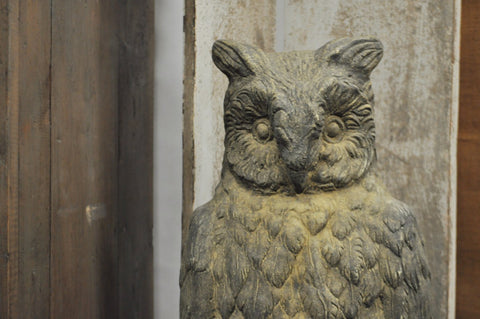 Europe2You Found Antique Stone Owl