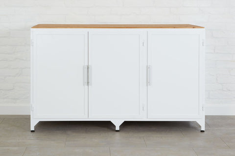 White Iron Kitchen Console