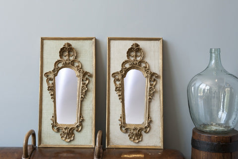 Antique Baroque Mirror, Moss