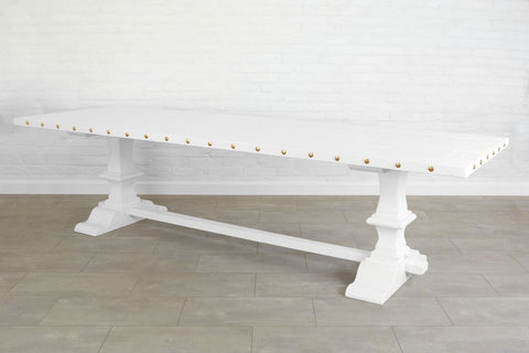 Somerset Trestle Table,  White
