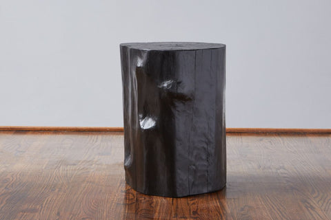 Black Log Stool