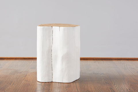 White Log Stool