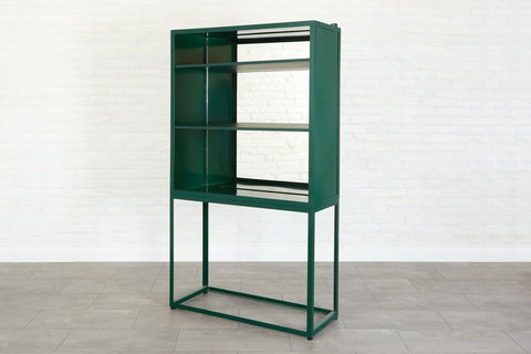Emerald Mirrored Vitrine Cabinet