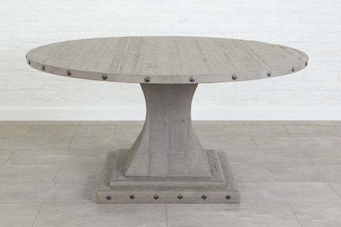 Camelot Pedestal Round Table, Grey