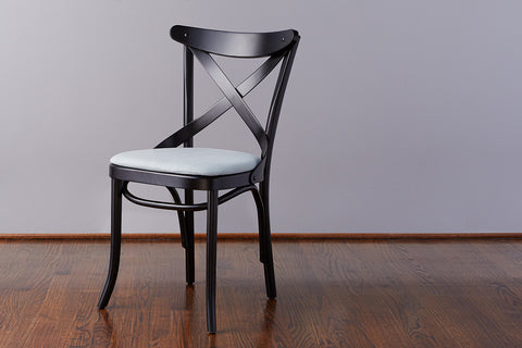 French Café Chair, Black + Mint