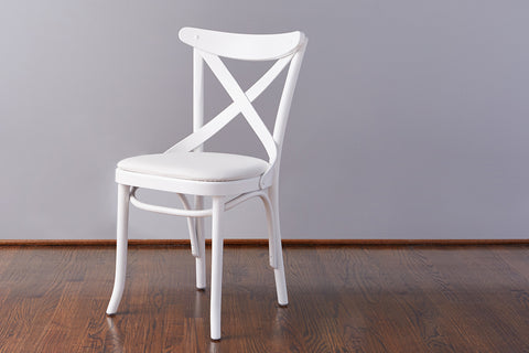 French Café Chair, White