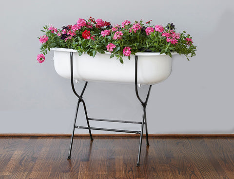 Found Bathtub Planter