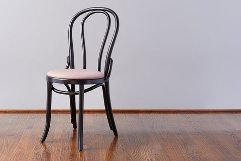 No. 18 Dining Chair, Black + Blush