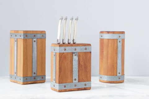 Bordeaux Square Knife Block