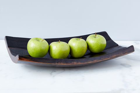 Stave Wine Barrel Fruit Tray, Large