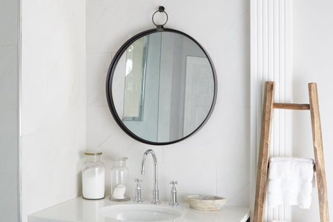 WEY292LD5-Iron-Wall-Mirror-Round