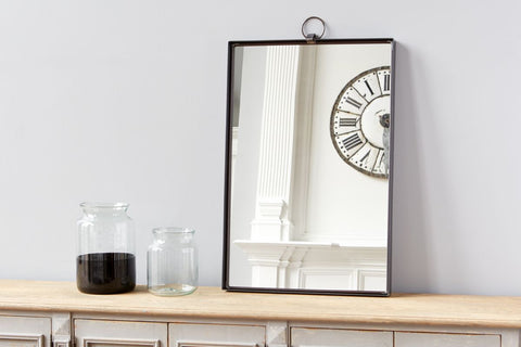 Black Rectangle Bardot Mirror