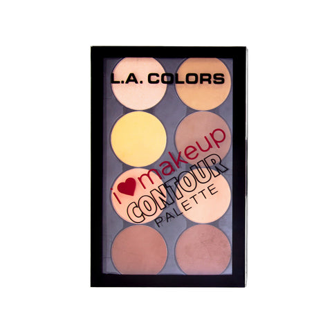 LA Colors I Heart Makeup Contour Palette - Light/Medium