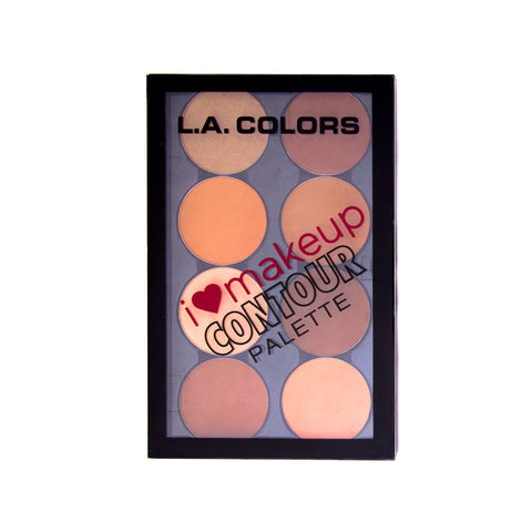 LA Colors I Heart Makeup Contour Palette - Medium/Deep