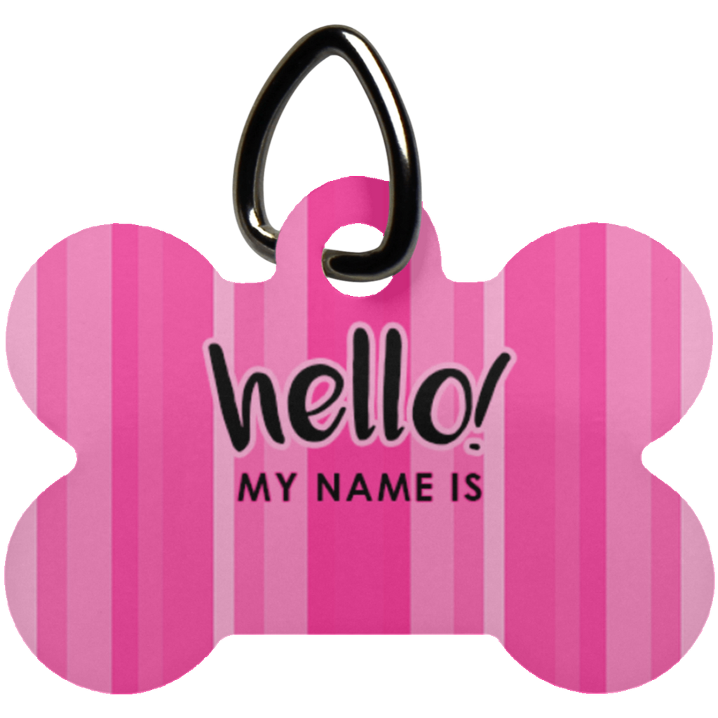 Personalized - My Name Is Dog Bone Pet Tag