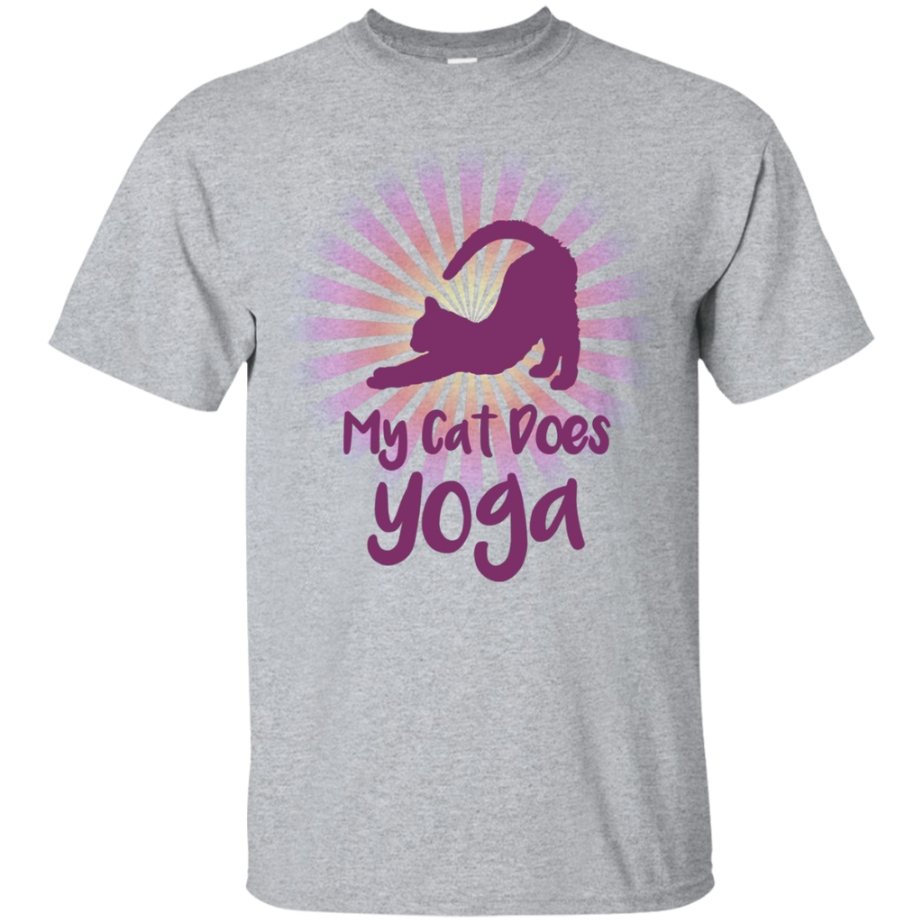 my cat does yoga G200 Gildan Ultra Cotton T-Shirt