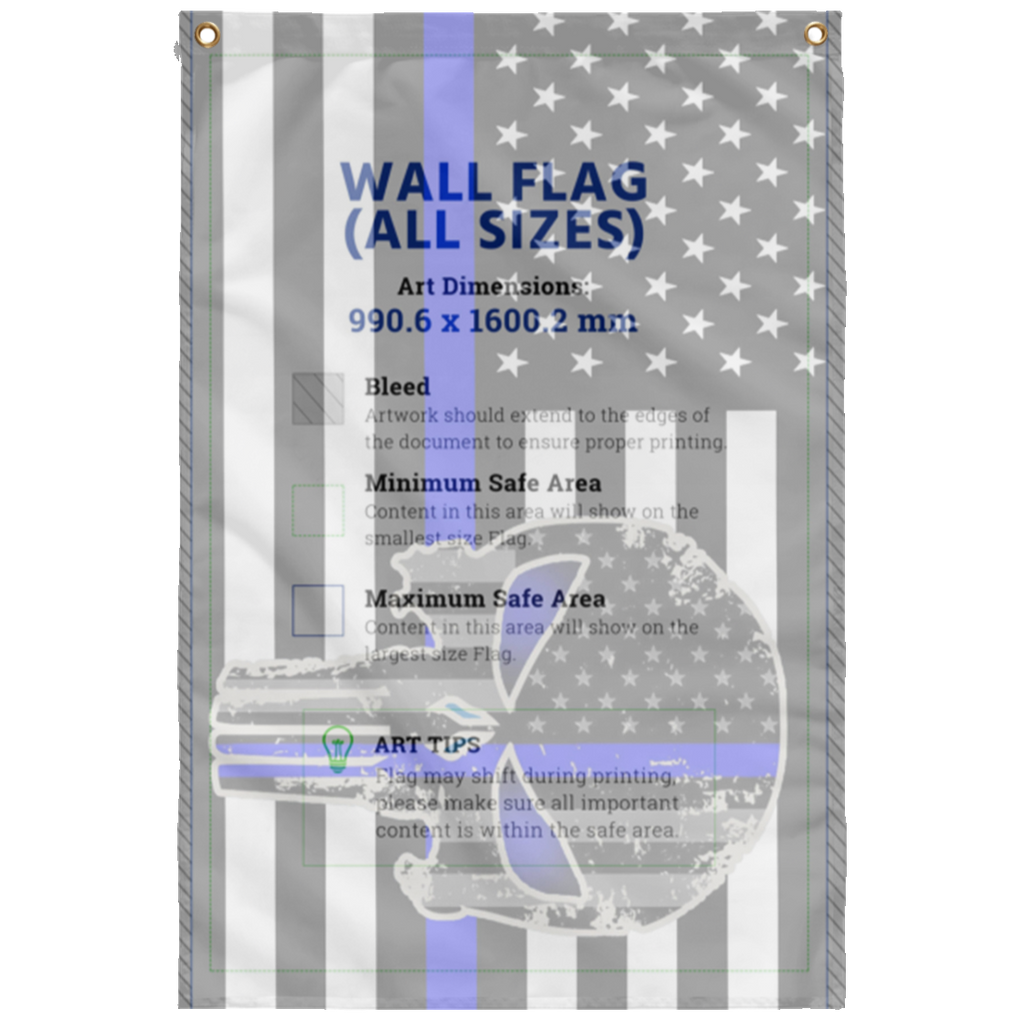 Skull Sublimated Wall Flag
