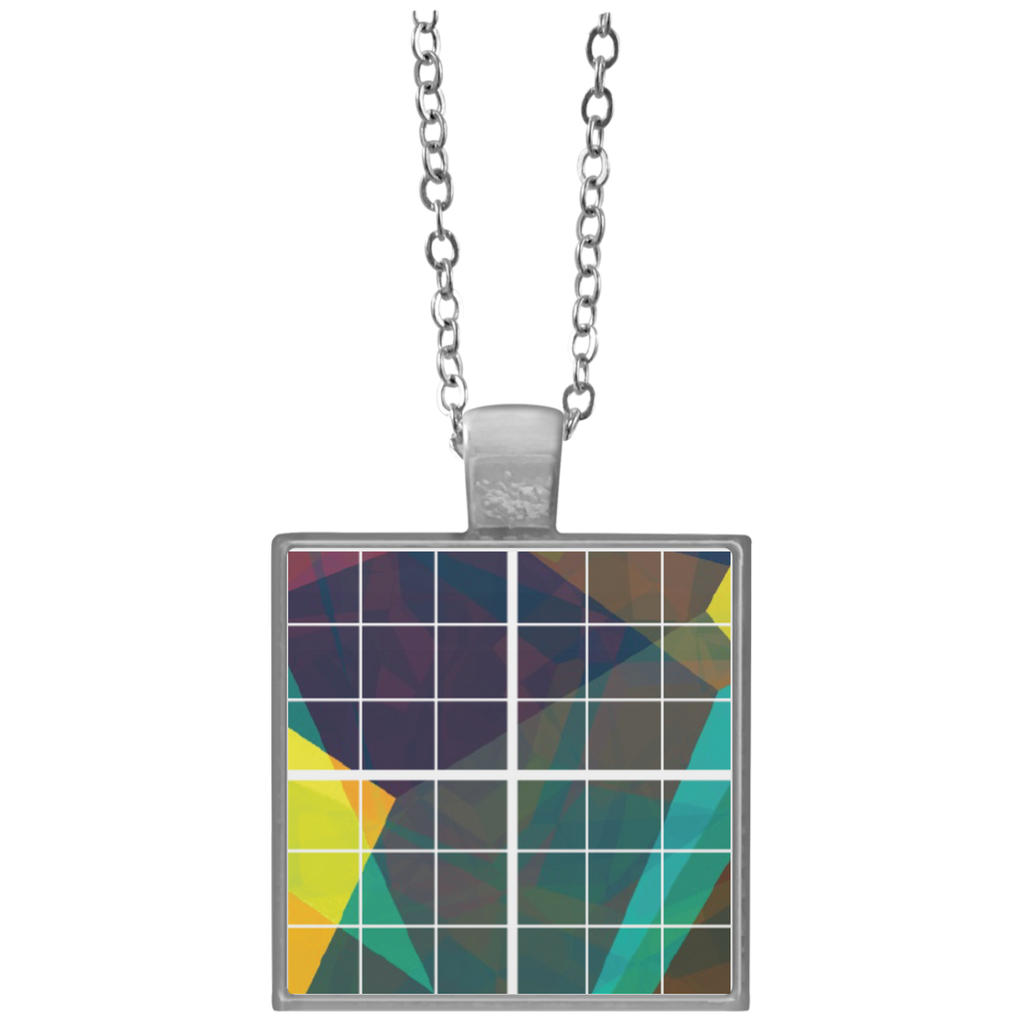 Square Necklace bulk - Grid - do not trim  Square Necklace