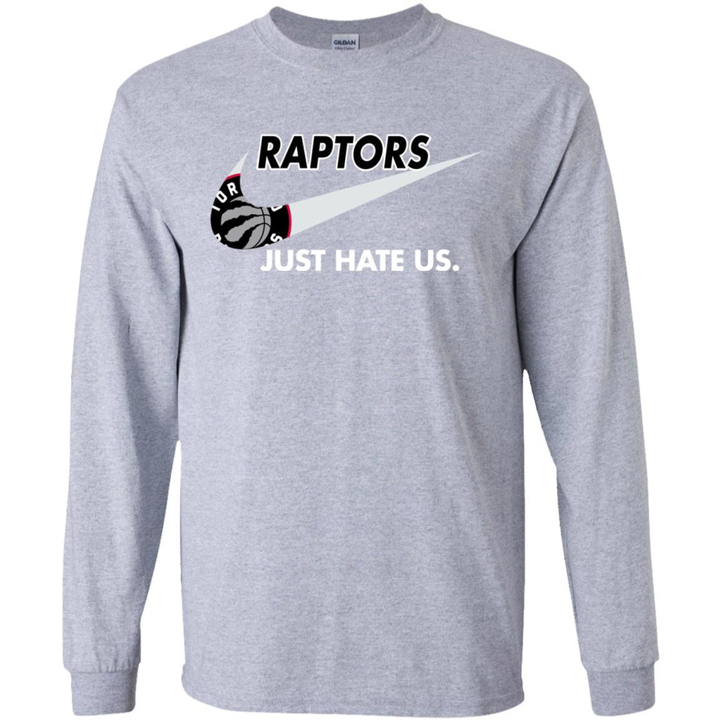 Raptors Swoosh G240 Gildan LS Ultra Cotton T-Shirt