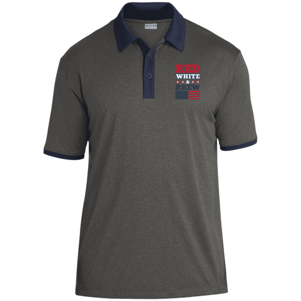 ST667 Sport-Tek Heather Contender Contrast Polo