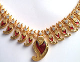 Red Enamel Kerala Pallak Set Indian Classical Dance-KRL702R