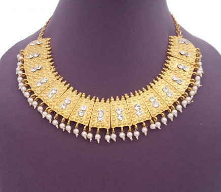 Kuchipudi Bharatanatyam Short Necklace - SN2216