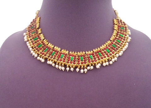 Kuchipudi Bharatanatyam Short Necklace - SN2219