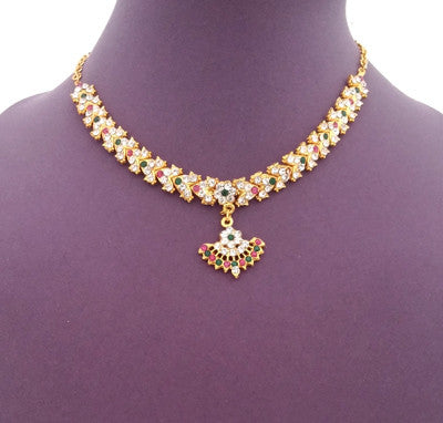 Kuchipudi Bharatanatyam Short Necklace - SN2220
