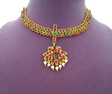 Kuchipudi Bharatanatyam Short Necklace - SN2213