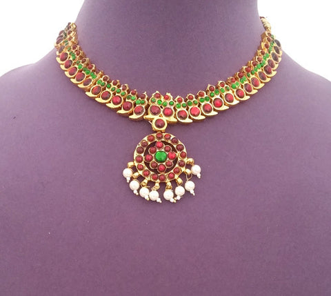 Kuchipudi Bharatanatyam Short Necklace - SN2212