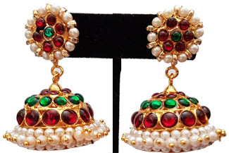 Kempu Pearl Jhumki Earrings - JMK2531
