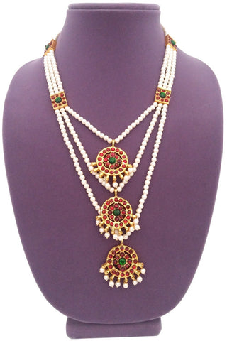 Long Necklace for Bharatanatyam Kuchipudi 3 step-LN2021