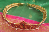 Kempu and Pearl Waist Belt - Oddiyanam