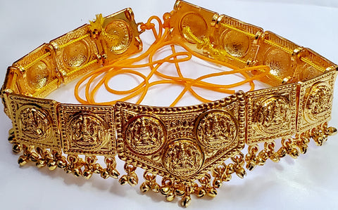 Kids Plain Gold Laxmi Waist Belt Oddiyannam WB4508