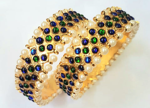 Blue and Green Kemp Imitation Bangles