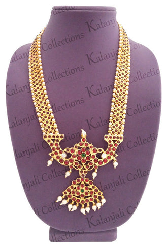 Kuchipudi Jewellery, Bharatanatyam Jewelry, temple design necklace