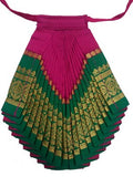 Bharatanatyam Dress Deep Pink Dark Green