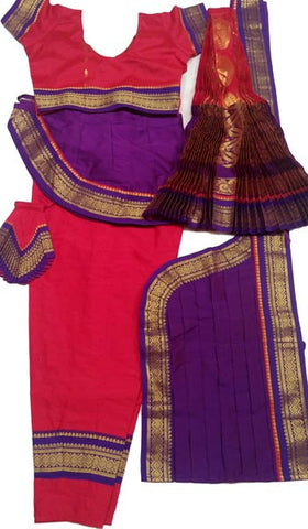 Bharatanatyam Dress Dark Red Purple