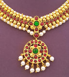 Kuchipudi Bharatanatyam Short Necklace - SN2228R